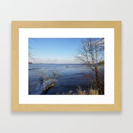More Than Seven Swans A Swimming And A Sitting On The Second Day Before Christmas Framed Art Print