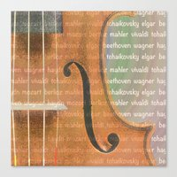 violin Canvas Prints featuring Violin by Imagology
