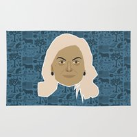 parks and recreation Area & Throw Rugs featuring Leslie Knope - Parks and recreation by Kuki