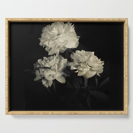 White peonies2 Serving Tray