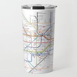 London Britain MAP METRO Travel Mug