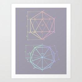 polyhedron 1 Art Print