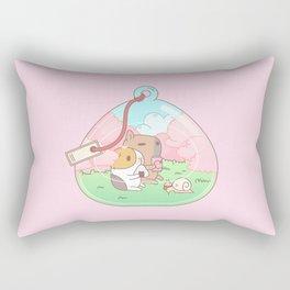 Bubu the Guinea pig, Cherry Blossom Terrarium Rectangular Pillow