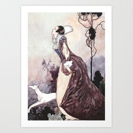 """Some Glory In Their Birth"" Fairy Art by Charles Robinson Art Print"