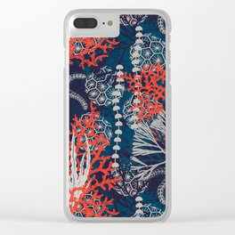 Corals and Starfish Clear iPhone Case