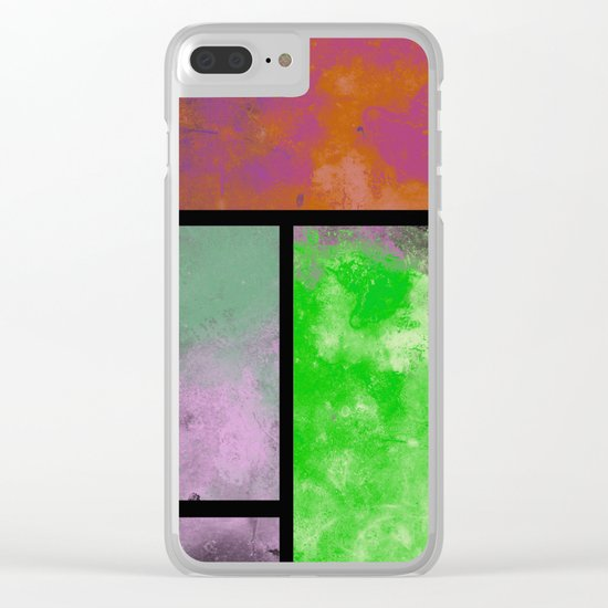 Textured Windows - Modern, abstract, textured painting Clear iPhone Case