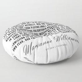 91   |  Marianne Williamson Quotes | 190812 Floor Pillow