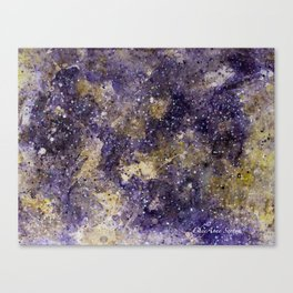Writings in the Sky the Night Galaxy watercolor by CheyAnne Sexton Canvas Print