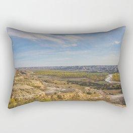 Badlands, Theodore Roosevelt NP, ND 9 Rectangular Pillow