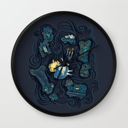 Alice In Wonderland Starry Night Wall Clock