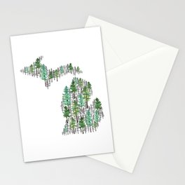 Michigan Forest Stationery Cards