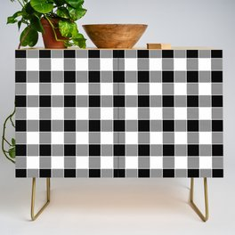 Buffalo Check - black / white Credenza