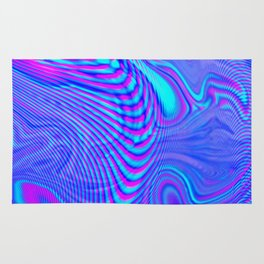 GLITCH MOTION WATERCOLOR OIL Rug