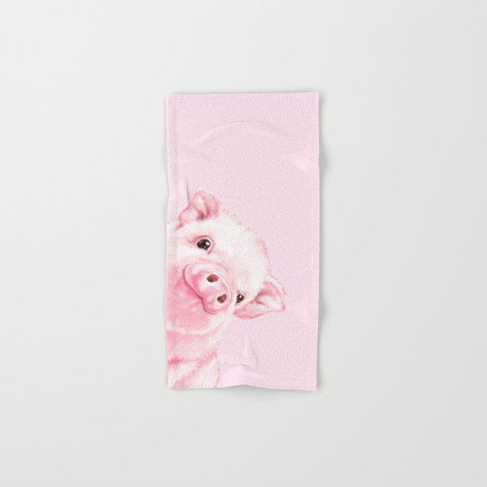 Sneaky Baby Pink Pig Hand & Bath Towel