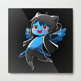 Chibi Luc (Expression 1) w/ Black Background Metal Print