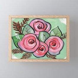 Roses for my Valentine Framed Mini Art Print