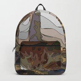 Amber dusk with trending nature landscape Backpack