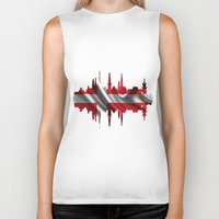 copenhagen Biker Tanks featuring Copenhagen city silhouette by South43