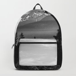 Morning in the Mountains Black and White Backpack