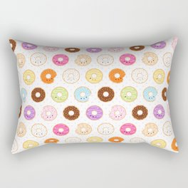 Happy Cute Donuts Pattern Rectangular Pillow