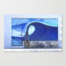 resting on the wave Canvas Print
