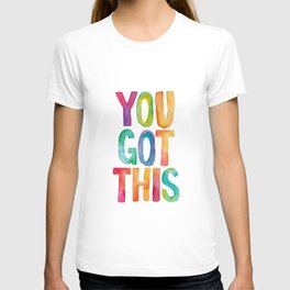 You Got This Rainbow Watercolor T-shirt