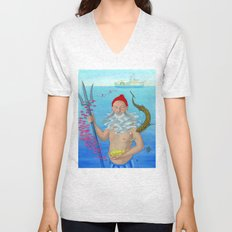 Ruler of the Deep Unisex V-Neck