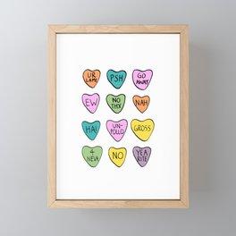 Anti Hearts Framed Mini Art Print