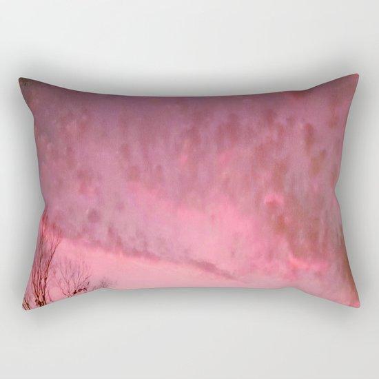 Red Night sky Rectangular Pillow