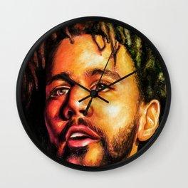 J.Cole Potrait Wall Clock