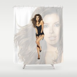 Eva Longoria Shower Curtain