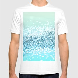Seafoam Aqua Ocean MERMAID Girls Glitter #2 #shiny #decor #art #society6 T-shirt