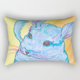 Chinchilla's name is Cotton Candy Rectangular Pillow