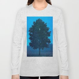 Rene Magritte - Le Seize Septembre - 1956 Moon Through Tree Surrealism Long Sleeve T-shirt