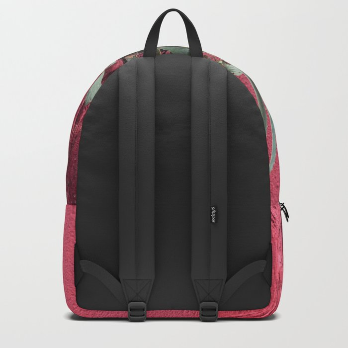 Pink and plant Backpack
