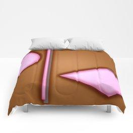 Pink lights Comforters