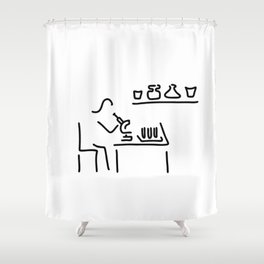 laboratory assistant lab Shower Curtain