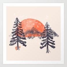 First Snow... Art Print