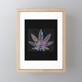 Funky Weed Framed Mini Art Print