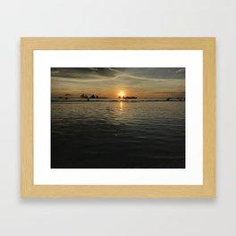 Boracay Sunset Twin Sails Framed Art Print