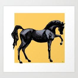 'Black Horse' Art Print