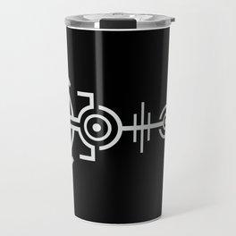 Crop Circle - White Travel Mug