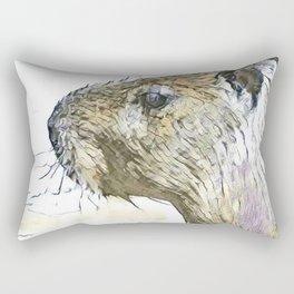 fascinating altered animals - Capybara Rectangular Pillow