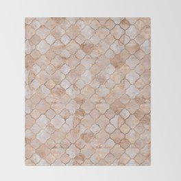 Quatrefoil Moroccan Pattern Pastel  Quartz Throw Blanket