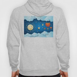 Valentine night with full moon Hoody