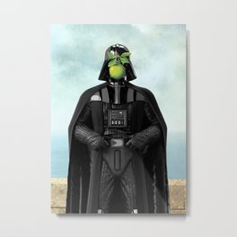 "Darth Vader in ""The Son of a Man"" by Magritte Metal Print"
