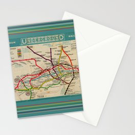 London Undergroud Map 1910 Stationery Cards