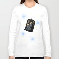 tardis Long Sleeve T-shirts featuring TARDIS by Colunga-Art