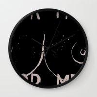 boob Wall Clocks featuring Boob Freckles by brittanylongdotcom