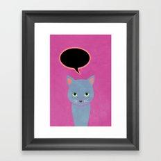 cat -Alice Framed Art Print